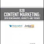B2B Content Marketing: 2010 Benchmarks, Budgets and Trends Report Cover