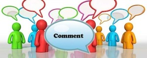 Image of a person making a comment